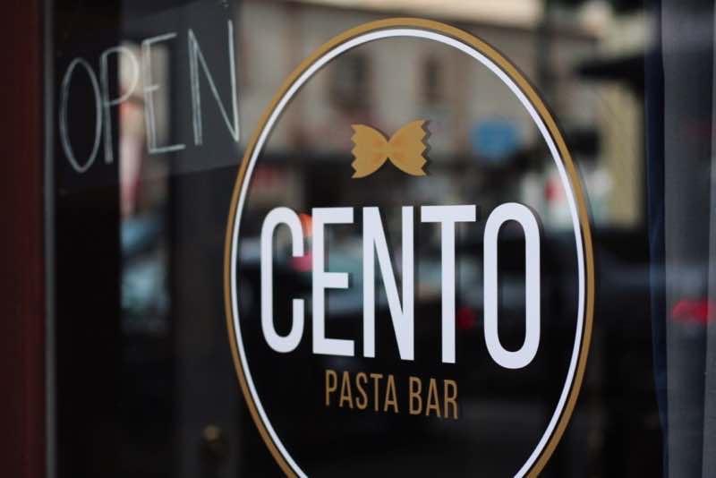 Cento Pasta entrance