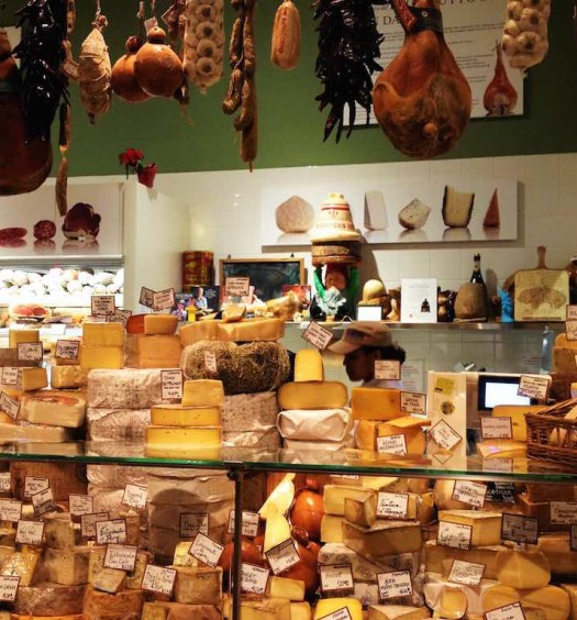 Italian cheeses at Eataly NYC (Foodiamo)