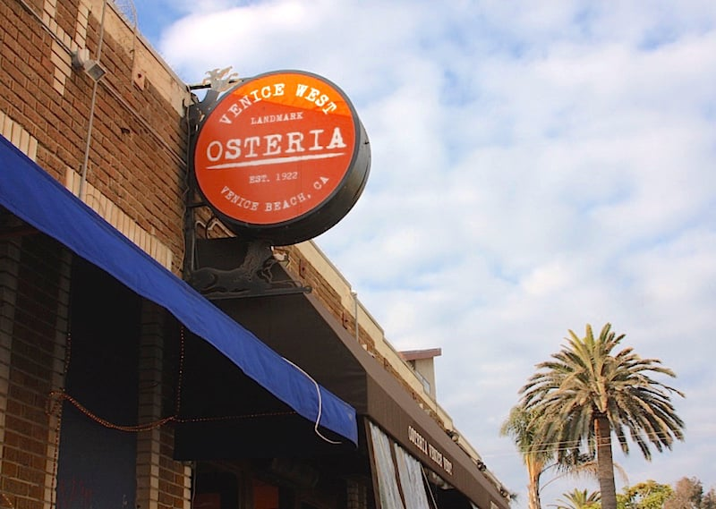 Osteria Venice West from the outside