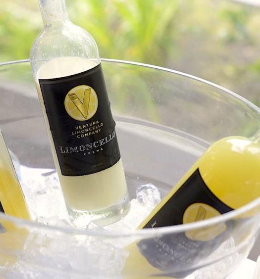 Bottles of Ventura Limoncello