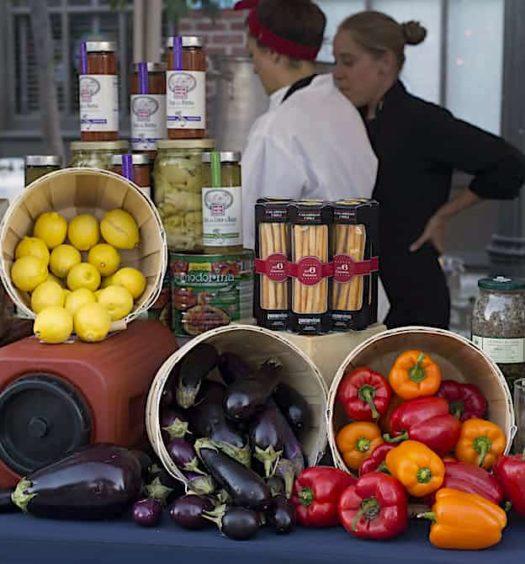 Vegetables at Taste of Italy los angeles 2016