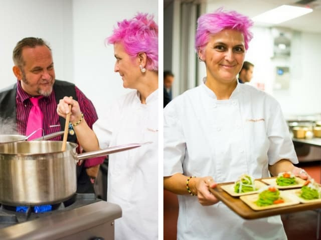 The star of the First Italian Cuisine in the World Week Cristina Bowerman