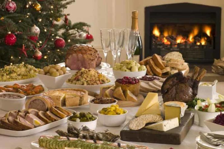 the table of the typical italian christmas dinner - Italian Christmas