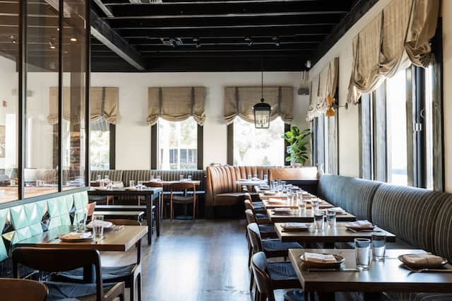 The interior of Janet Zuccarini's new restaurant