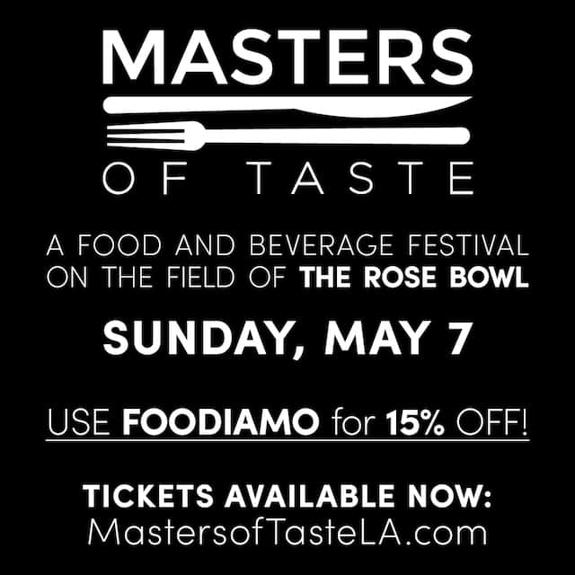 Masters of Taste 2017 Pasadena Promo Code