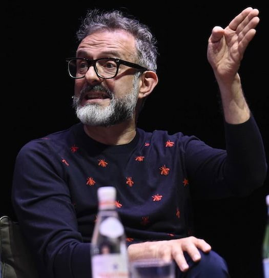 Massimo Bottura discussing food waste and the Food for Soul Project