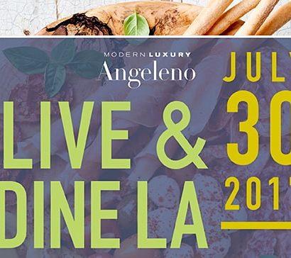 Live & Dine LA 2017 event cover