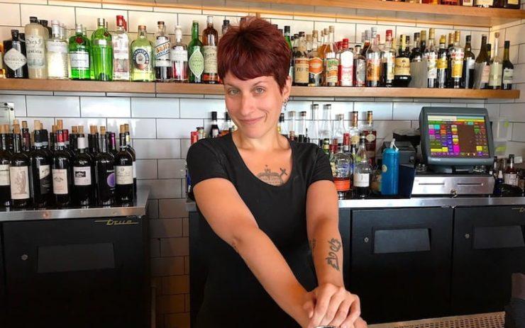 Elizabeth Mccoy at All'Acqua, her previous restaurant