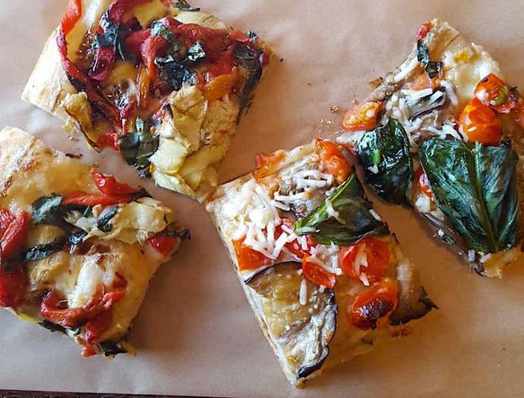 Roman-style pizza at Il Romanista, El Segungo