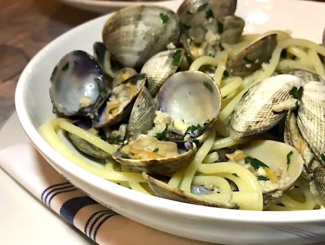 clam spaghetti from Il Pesce Cucina at Eataly LA