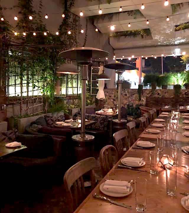 Outdoor dining at Estrella Sunset
