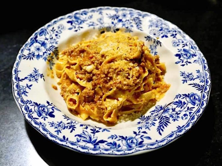 best pasta los angeles: tagliatelle al ragu at Sotto by Joshua Lurie