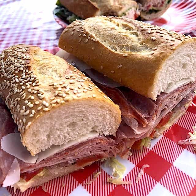 sandwiches at Uncle Paulie's Deli