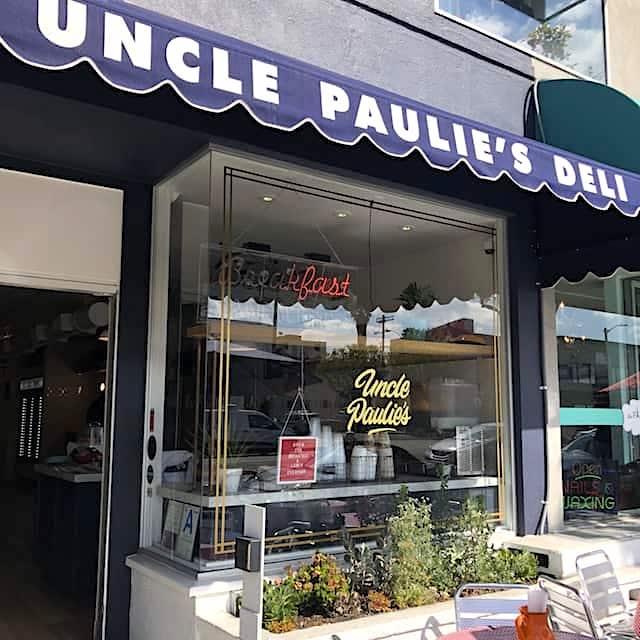 window of Uncle Paulie's Deli